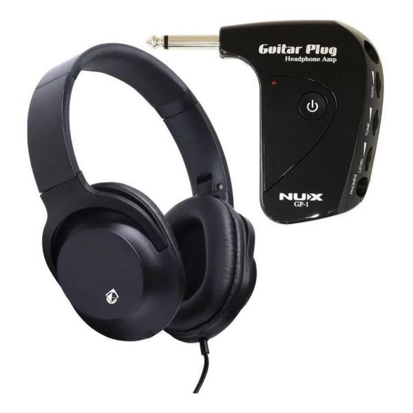 NUXGP-1+KHP-001エレキギター用ポータブルヘッドホンアンプ/ヘッドホン付
