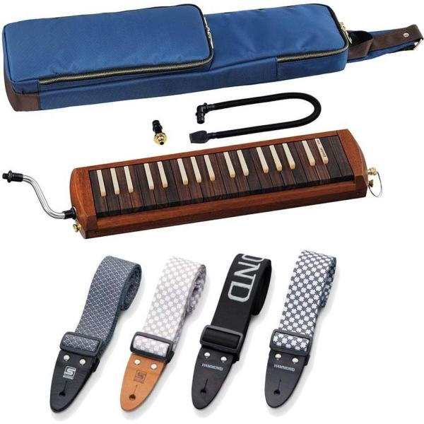 SUZUKIW-37/純正ストラップ(4種類より選択)木製鍵盤ハーモニカ