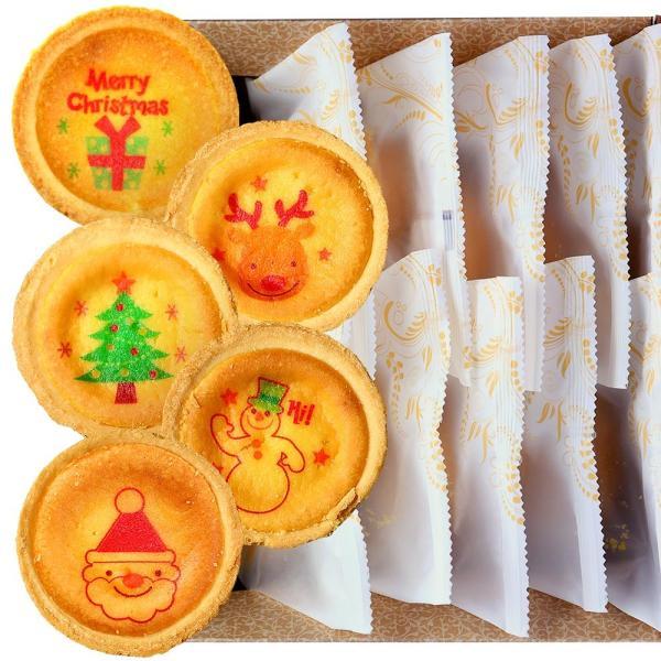クリスマス プレゼント ギフト お菓子 チーズ タルト 10個 化粧箱入り お祝い 内祝い かわいい イラスト スイーツ Christmas 限定品