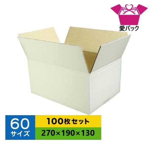 ダンボール箱 60サイズ 白 B5 100枚 無地 段ボール 梱包用 日本製 薄型 ネットショップ 商品発送用 クロネコヤマト 宅急便 ゆうパック メルカリ