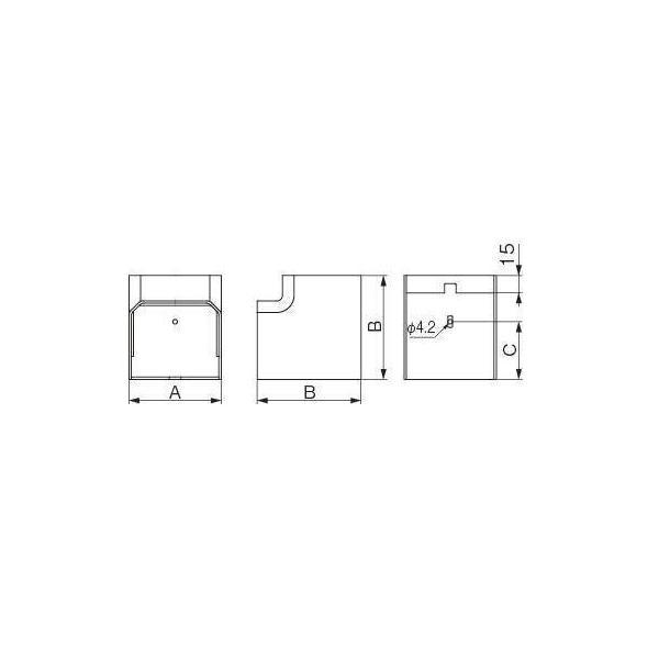 イナバ MD立面インコーナー90° MCI-75(ホワイト)|aircon-station|03