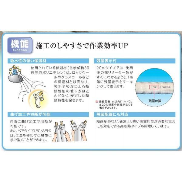 因幡電工 被服銅管 ペアコイル 2分3分 PC−2320(20m巻)|aircon-station|05