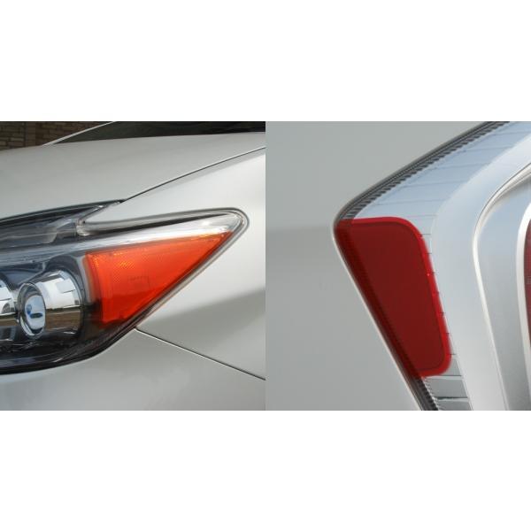 【エルエックスモード】プリウス 30系 後期 LX USマーカーデカール 4枚セット LEDヘッドライト用