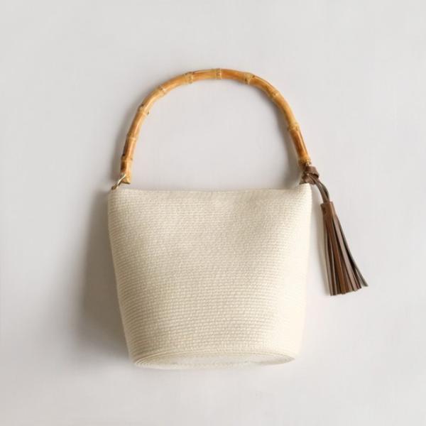 バンブーワンハンドルバッグ ポライト ホワイト