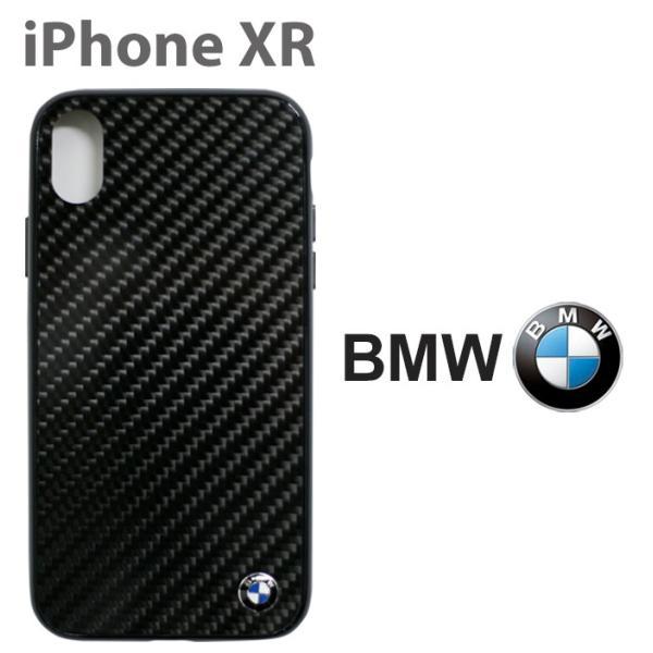 BMW iPhoneXR ハードケース 公式ライセンス品 アイフォンケース リアルカーボン ブランド メンズ airs