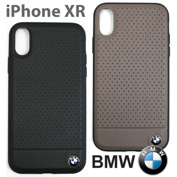 BMW iPhoneXR ハードケース 公式ライセンス品 アイフォンケース ブランド メンズ バックカバー ブラック ブラウン airs