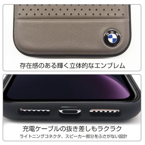 BMW iPhoneXR ハードケース 公式ライセンス品 アイフォンケース ブランド メンズ バックカバー ブラック ブラウン airs 05