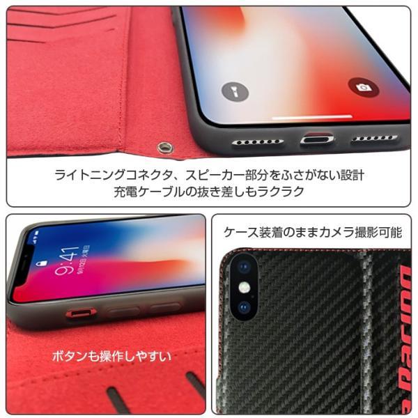 ホンダ Honda 公式ライセンス品 iPhoneXS iPhoneX ケース ブラック レッド 手帳型ケース アイフォンXS アイフォンX iPhoneケース カバー リアルレザー|airs|05