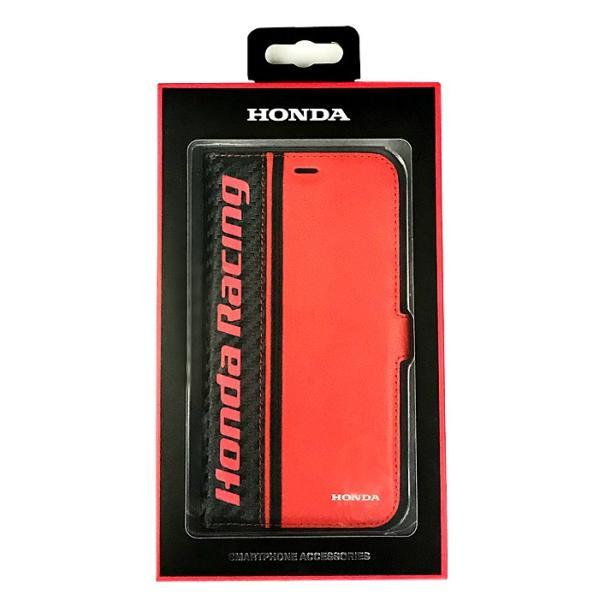 ホンダ Honda 公式ライセンス品 iPhoneXS iPhoneX ケース ブラック レッド 手帳型ケース アイフォンXS アイフォンX iPhoneケース カバー リアルレザー|airs|06