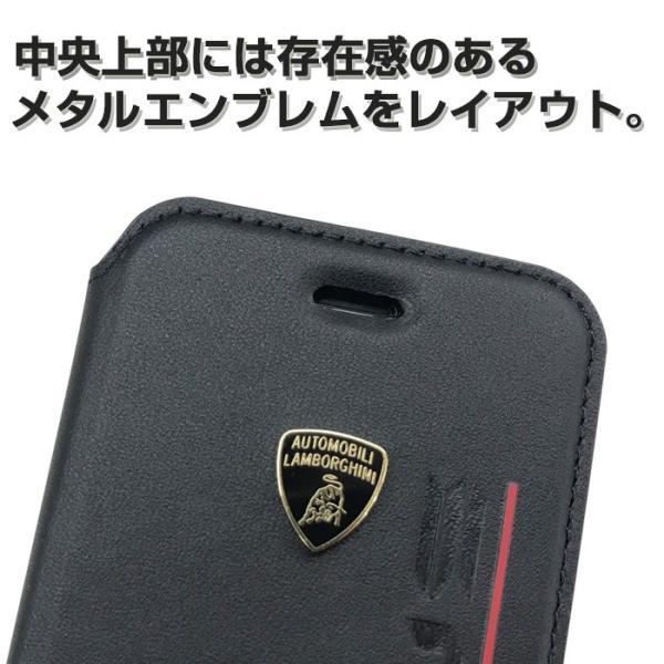 ランボルギーニ iPhoneX iPhone8 iPhone7 iPhone6s iPhone6 手帳型ケース 公式ライセンス品 本革 アイフォンケース ブランド メンズ URUS|airs|05
