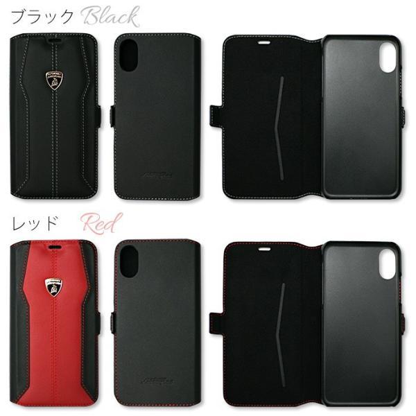 ランボルギーニ iPhoneX 手帳型ケース 公式ライセンス品 本革 アイフォンケース ブランド メンズ airs 02