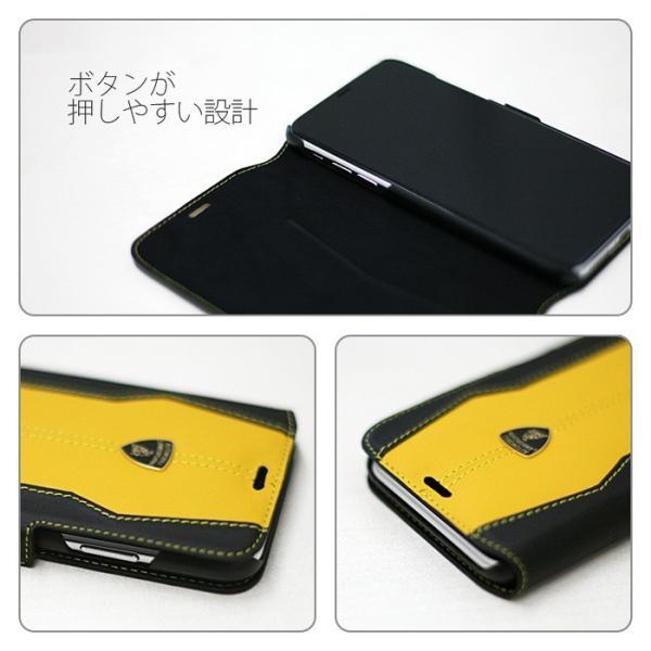 ランボルギーニ iPhoneX 手帳型ケース 公式ライセンス品 本革 アイフォンケース ブランド メンズ airs 05