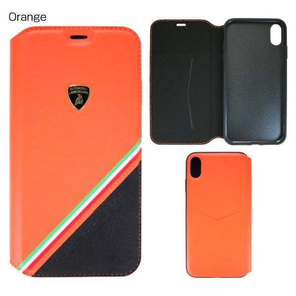ランボルギーニ iPhoneXS Max 手帳型ケース 公式ライセンス品 本革 アイフォンケース ブラック レッド オレンジ ブランド メンズ|airs|04