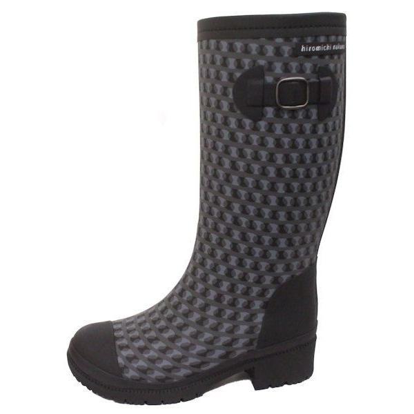 子供 女の子 長靴 冬用 冬物 防寒 ジュニア レインブーツ ヒロミチナカノ 145 ブラック N