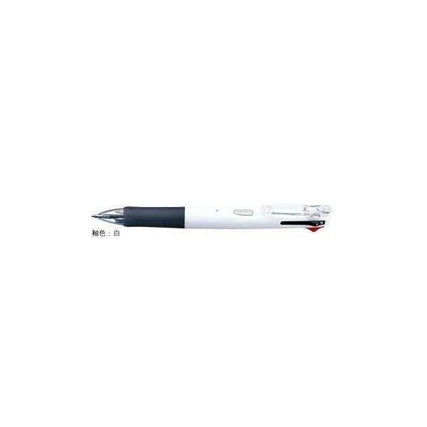油性ボールペン クリップ-オンG 4C [黒/赤/青/緑] 0.7mm 白 B4A3-W