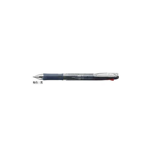ゼブラ 油性ボールペン ZEBRA クリップ-オン スリム4C 黒 B4A5-BK