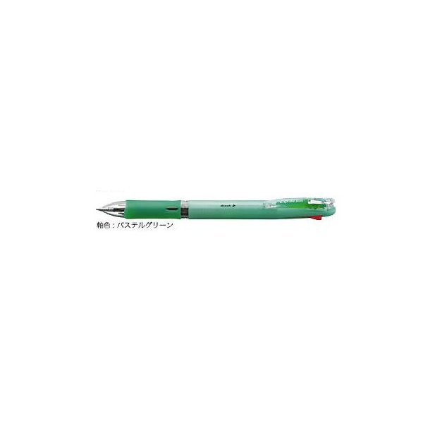 ゼブラ 油性ボールペン ZEBRA クリップ-オン スリム4C パステルグリーン B4A5-WG