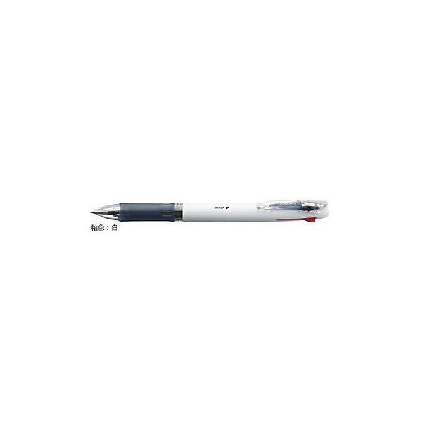 油性ボールペン クリップ-オン スリム 4C [黒/赤/青/緑] 0.7mm 白 B4A5-W