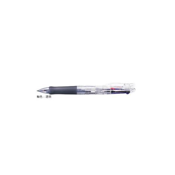 ゼブラ 油性ボールペン ZEBRA クリップ-オンG 3C 透明 B3A3-C