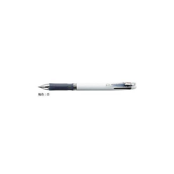 ゼブラ 油性ボールペン ZEBRA クリップ-オン スリム3C 白 B3A5-W
