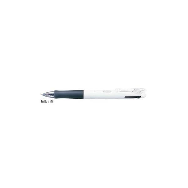 油性ボールペン クリップ-オンG 2C [黒/赤] 0.7mm 白 B2A3-W