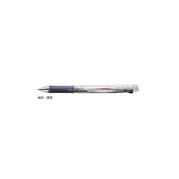 ゼブラ 油性ボールペン ZEBRA クリップ-オン スリム2C 透明 B2A5-C