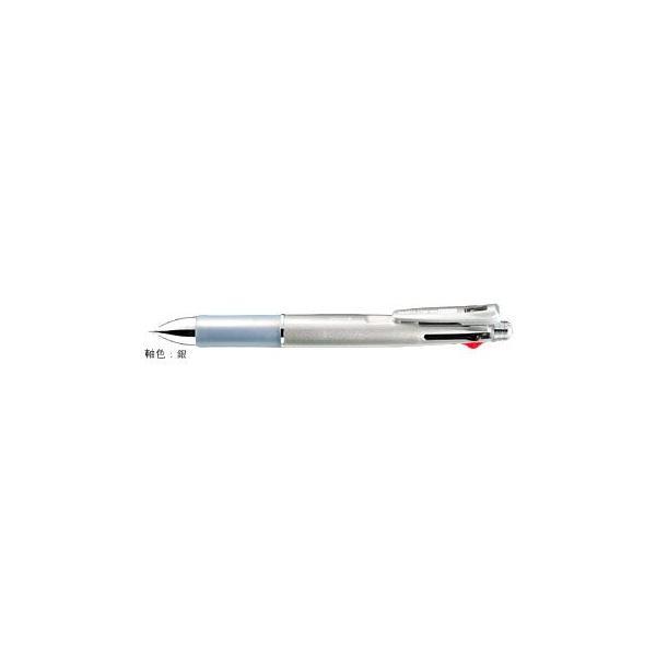 クリップ-オン マルチ1000 [黒/赤/青/緑+シャープペンシル] 0.7mm 銀 B4SA2-S
