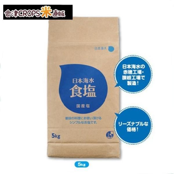 【1ケース】 食塩 (5kg×4個入)日本海水【同梱不可】【送料無料】