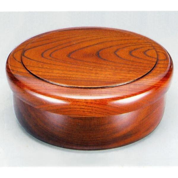 木製 欅 10.5 くり抜き茶びつ 漆塗り(直径32cm 国産材 天然木  木目 日本製) aizu-sikkiya1