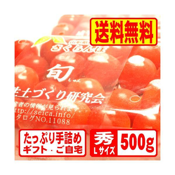 山形産さくらんぼ佐藤錦500gドームパック(250g×2PK)Lサイズ秀品