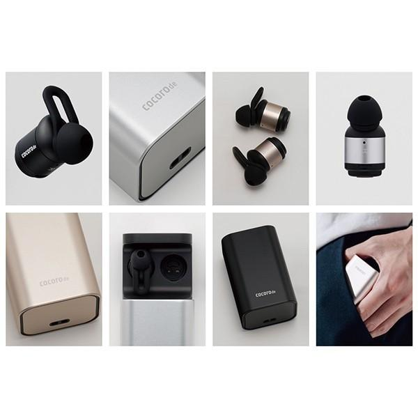 完全ワイヤレスイヤホン cocorode ココロデ  AAC対応 Bluetooth 4.2 メタルボディ マイク 内蔵 ハンズフリー通話 防滴 トゥルーワイヤレス イヤホン (Black/黒)|ajinomisaki|08