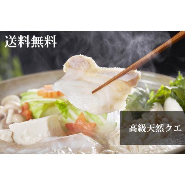 【活魚】高級天然クエ鍋セット【4〜5人前】【送料無料】