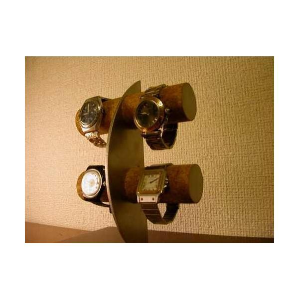 ウォッチ スタンド 三日月腕時計スタンド!ロングトレイ、指輪スタンド付き