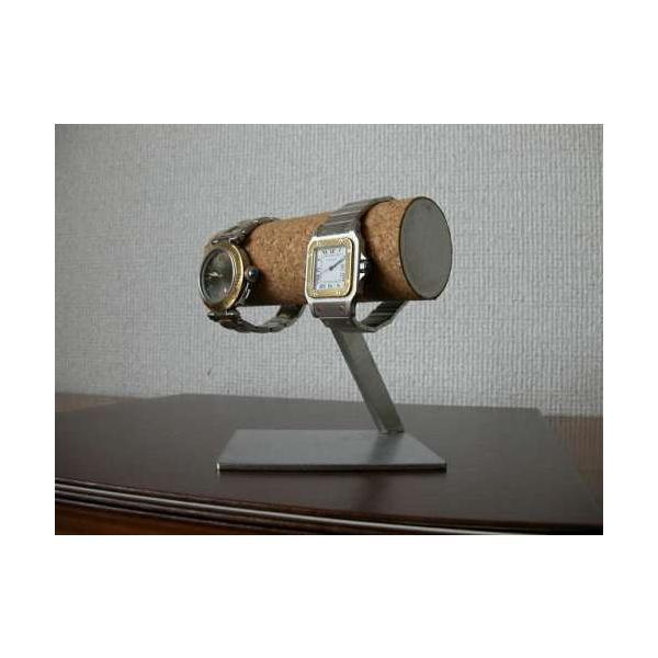 腕時計スタンド 2本掛け菱形台座腕時計スタンド スタンダード