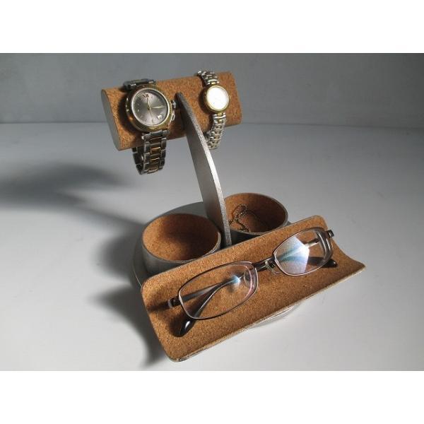 腕時計スタンド手作り メガネ、腕時計、ダブル丸トレイウオッチスタンド