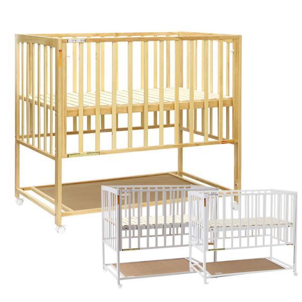 ベビーベッド 便利 収納 広い ハイタイプ すのこ 普通サイズ ベッド ベビー 赤ちゃん お世話がしやすい ヤトミ HS601