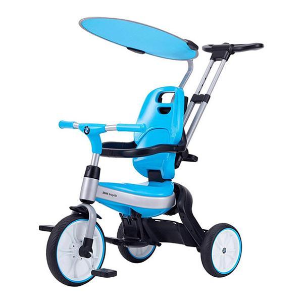 BMW 三輪車 ブルー サンシェード 1歳 2歳 3歳 4歳 子供用 折りたたみ カジキリ機能 ブレーキ ワールド 野中製作所