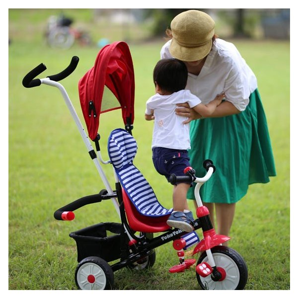 三輪車 1歳 2歳 3歳 おしゃれ 子供用 ベビー キッズ baby kids 自転車 トコトコトライク【プレゼント】 クリスマス プレゼント 2019|akachandepart|06