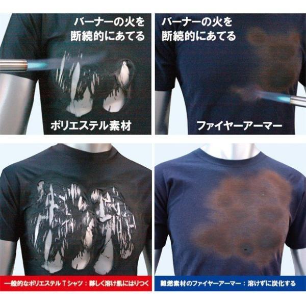 難燃Tシャツ ファイヤーアーマー メンズ 消防 火災 防炎 半袖Tシャツ|akagi-aaa|06
