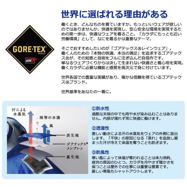 ゴアテックス レインウェア 上下セット S/M/L/LL/3L ブルー オレンジ メンズ レディース 完全防水 akagi-aaa 02