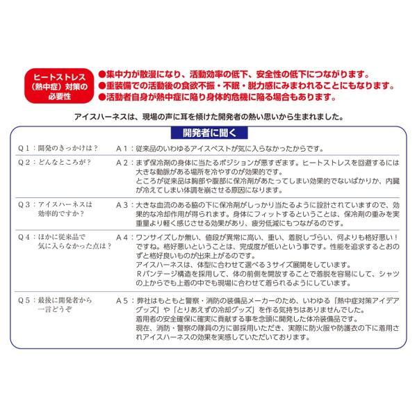 暑さ対策 熱中症対策グッズ 冷却ベスト 上位モデル アイスハーネス 難燃アラミドタイプ 保冷剤3個付きセット|akagi-aaa|14
