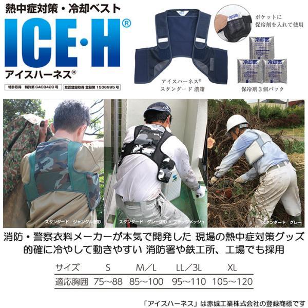 暑さ対策 熱中症対策グッズ クールベスト 冷却ベスト アイスハーネス 保冷剤6個付き|akagi-aaa|02