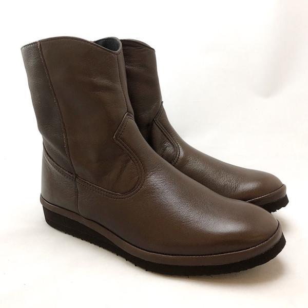 HIPS ヒップス ショートブーツ フラットソール 軽量 柔らか 靴 81hp233200br