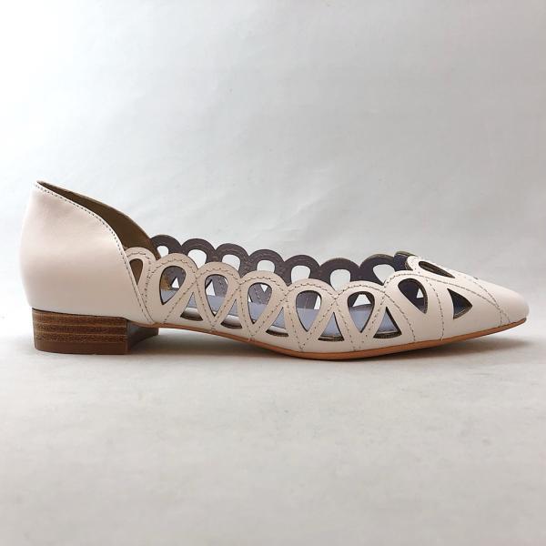 2019春夏新作 CHIAKI KATAGIRI チアキカタギリ カッターシューズ パンプス 本革 靴 83ck1160152w