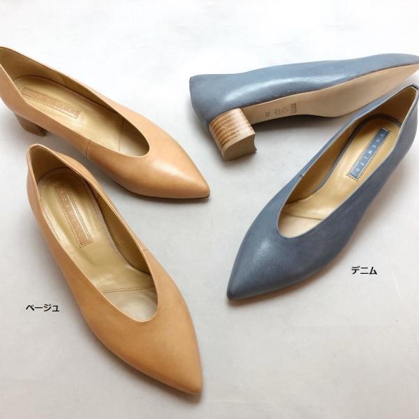 2021春夏 YOSHITOヨシトパンプスシンプルチャンキーヒールシューズ靴85yst0188