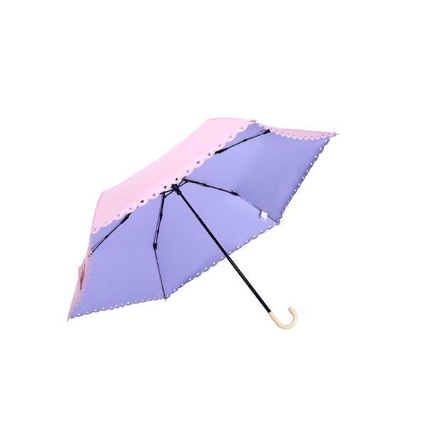 ミニ傘 日傘 オシャレ レディース 超軽量170g スカラップ 100% 完全遮光 折りたたみ傘 晴雨兼用 UVカット 折り畳み 日傘 紫外線対策 耐風傘 母の日 雨傘 かさ akalui 16