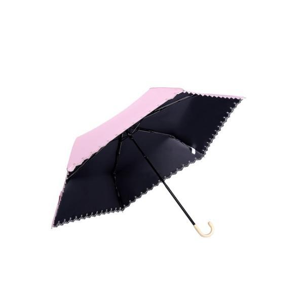 ミニ傘 日傘 オシャレ レディース 超軽量170g スカラップ 100% 完全遮光 折りたたみ傘 晴雨兼用 UVカット 折り畳み 日傘 紫外線対策 耐風傘 母の日 雨傘 かさ akalui 10