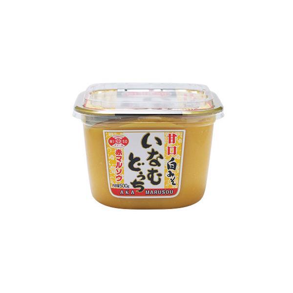 赤マルソウ 沖縄の調味料 いなむどぅちみそ(甘口白みそ) 500gカップ