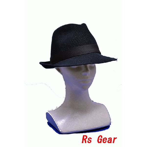 NEWYORK HAT #7129 SOLID FEDORA  akamonbrother-rsgear 04
