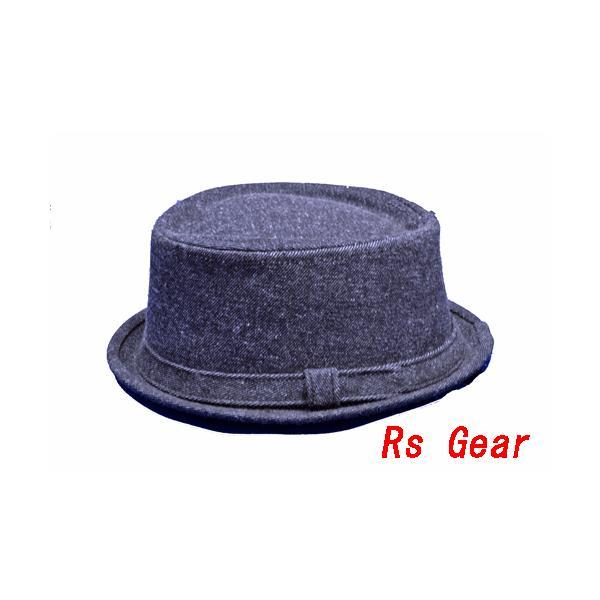 NEWYORK HAT #3038 DENIM PORKPIE  akamonbrother-rsgear 02